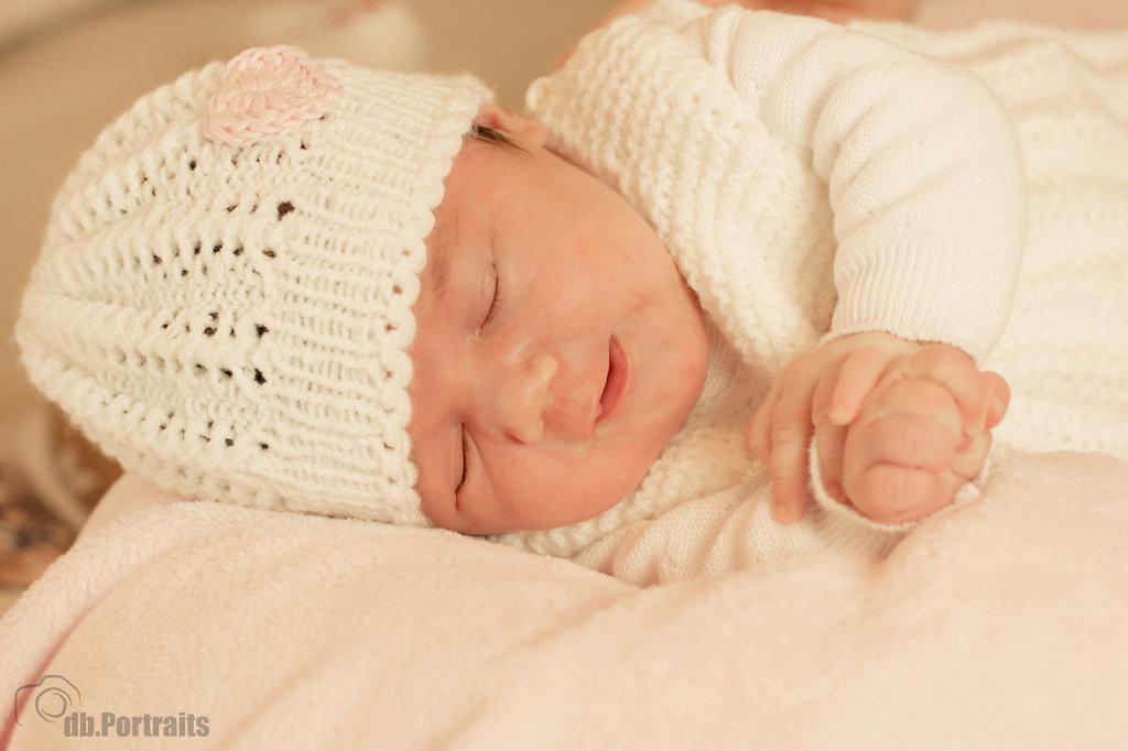 Baby Girl beim Schlafen