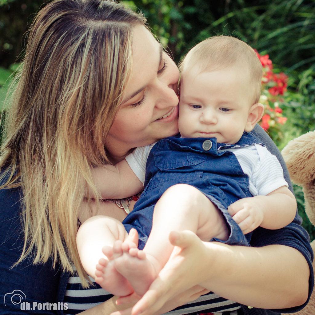 Mama und Baby Foto